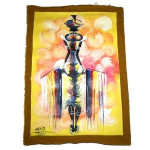 African Painting Abstract Wall Art